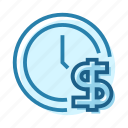 bill, business, dollar, investment, money, schedule, time icon