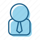 avatar, business, employee, person, salesperson, tie, user icon