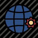 setting, global, business, gear, international, service