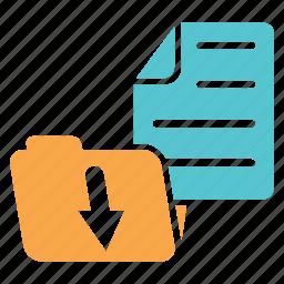 documents, download, folder, folder management, sort, sorted icon