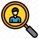 business, finance, management, marketing, money, personal, search icon