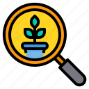 business, finance, management, marketing, money, search icon