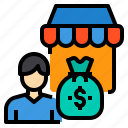 business, finance, management, marketing, money, shopping icon