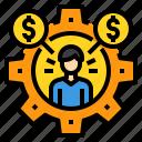 business, finance, management, marketing, money, team, work icon