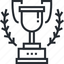 award, business, concept, lider, pixel icon, success, thin line icon