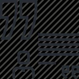 business, concept, forum, pixel icon, review, testimonial, thin line icon