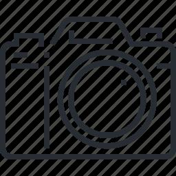 business, camera, concept, photography, pixel icon, portfolio, thin line icon