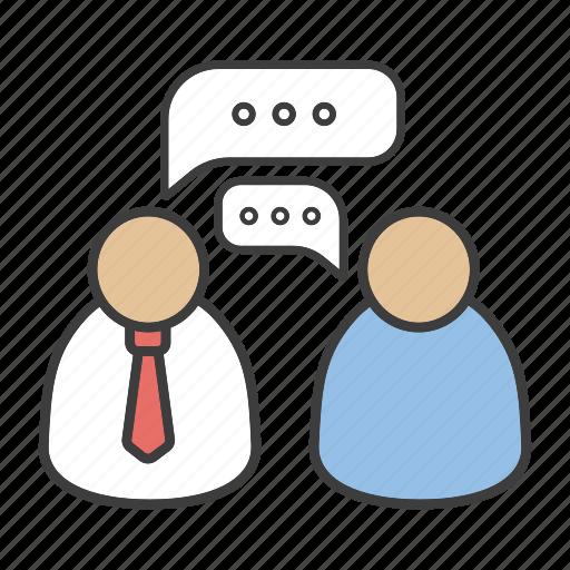 business, chatting, communication, dialog, leadership, management icon