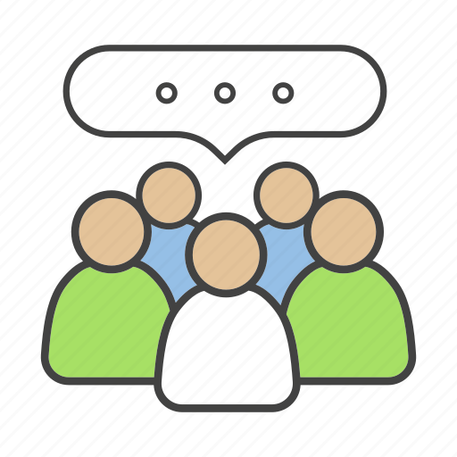 community, conference, cooperation, discussion, group, meeting, teamwork icon