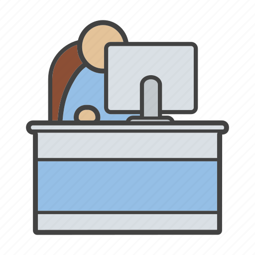 office, personnel, staff, work place, worker, workspace, workstation icon