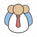 businessman, leadership, management, personnel, staff, teamwork, workforce icon