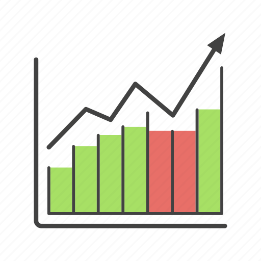 brokerage, diagram, finance, growth, income, sales, statistics icon
