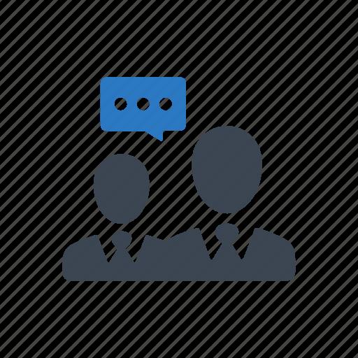business, conversation, discussion, talk icon