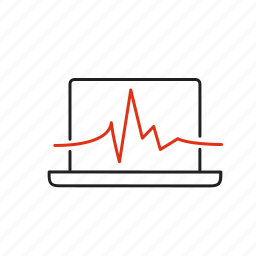 analytics, dashboard, forecast, monitoring, service, spreadsheet, statistics icon
