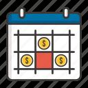 business, calendar, concept, development, idea, money, profit icon