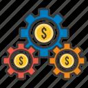 business, concept, development, idea, money, profit, system icon