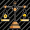 business, concept, development, idea, money, profit, scale icon