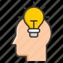 brain, business, concept, development, idea, money, profit icon