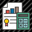 business, calculator, concept, development, idea, money, profit icon