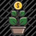 business, concept, development, growing, idea, money, profit icon