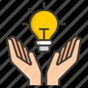 bulb, business, concept, development, idea, money, profit icon