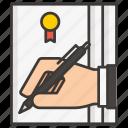 business, concept, development, idea, money, profit, signature icon