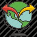 business, concept, development, globe, idea, money, profit icon
