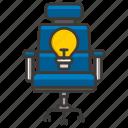business, chair, concept, development, idea, money, profit icon