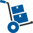 cart, courier, delivery, logistic, parcel, shopping icon