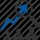 development, expansion, growth, market, speed, utilization, value icon