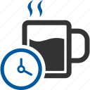break, busy, coffee, duration, tea, time icon
