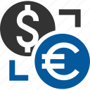 currency, exchange, foriegn, replace, swap, switch, transaction icon