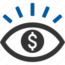 financial, idea, money, vision, visualisation, visualization icon