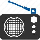 radio, broadcasting, brodcast, communication, data, lines icon