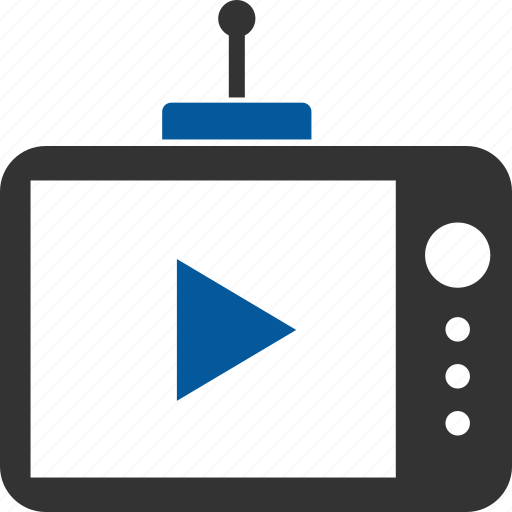 broadcast, broadcasting, media, player, telecast, youtube icon