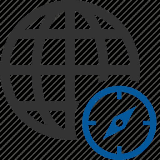 compass, direction, international, zone icon