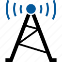 antenna, satellite, tower, transmitter, wireless icon