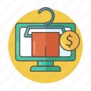 color, money, online, outlined, product, shop, t-shirt icon