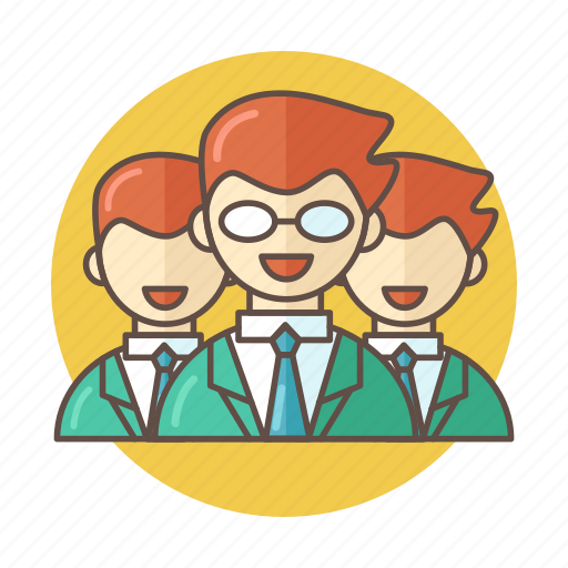 business, color, crew, outlined, people, team icon