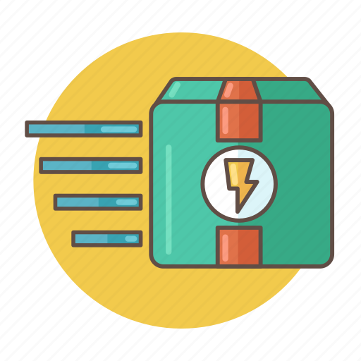 box, color, delivery, outlined, package, packaging, shipping icon
