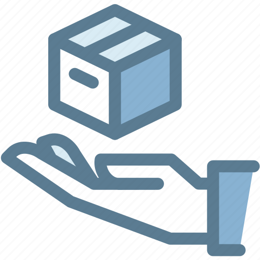 business, delivery, hand, logistics, package, protected, secure icon