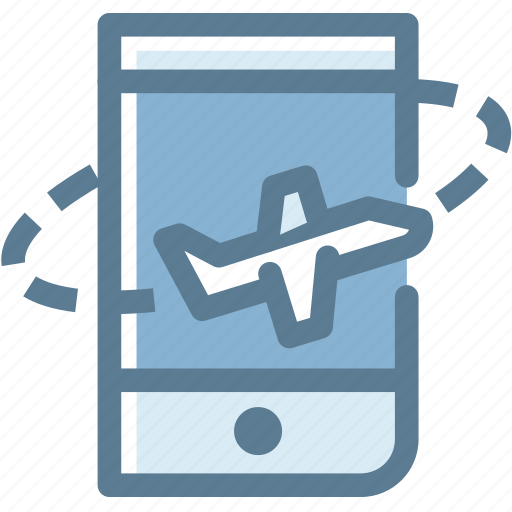 airplane, business, logistics, place, travel, travel booking on mobile icon