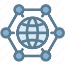 business, global solution, globe, logistics, planet, sync, synchronization icon