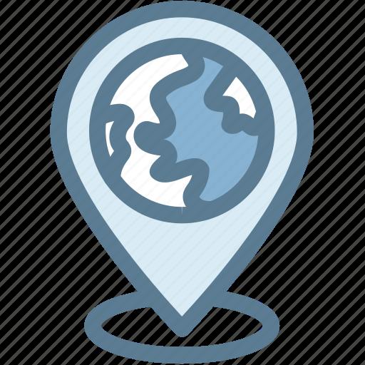 address, business, destination, globe, location, logistics, pin icon