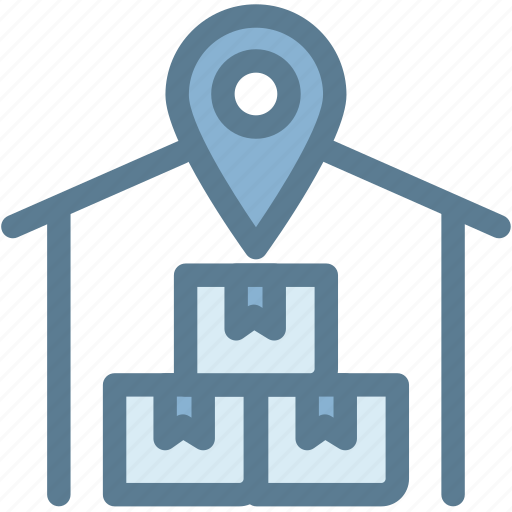 business, logistics, shipping, stock, storage, warehouse, warehouse location icon