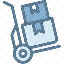 business, delivery, hand trolley, logistics, package, shipment, trolley icon