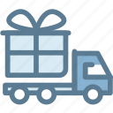 box, delivery, express, express delivery, gift, logistics, truck icon