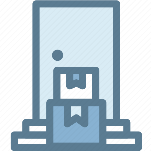 box, business, delivery, door, home, home delivery, logistics icon