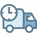 business, delivery, delivery time, logistic, logistics, shipping, transport icon