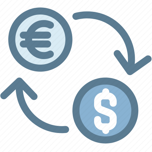 Business Currency Exchange Rates Dollar Euro Logistics Money Icon